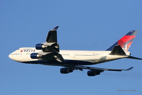 デルタ航空 B747-400